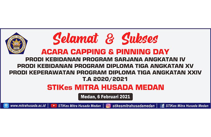 Acara Capping dan Pinning Day STIKes Mitra Husada Medan Tahun Ajaran 2020/2021
