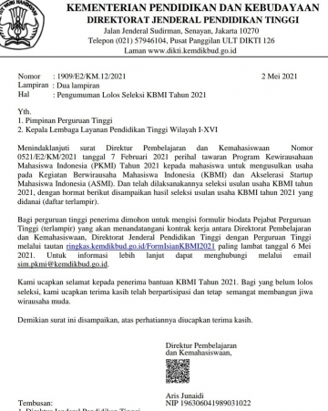 Selamat Kepada Mahasiswa dan Dosen STIKes Mitra Husada Medan yang sudah berhasil lolos seleksi KBMI 2021