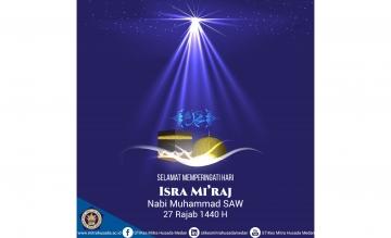 Selamat memperingati Hari Isra Mi'raj Nabi Muhammad SAW