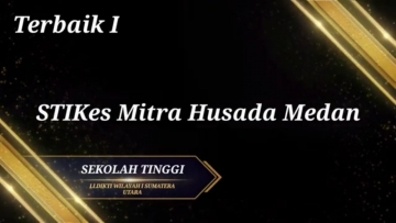 STIKes Mitra Husada Medan meraih Peringkat Terbaik 1 dari LLDIKTI 1 kategori Sekolah Tinggi Tahun 2020
