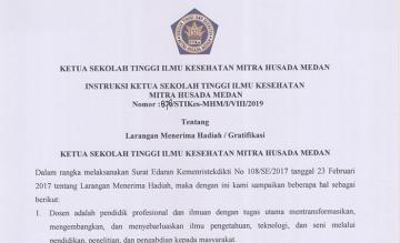 Instruksi Ketua STIKes Mitra Husada Medan