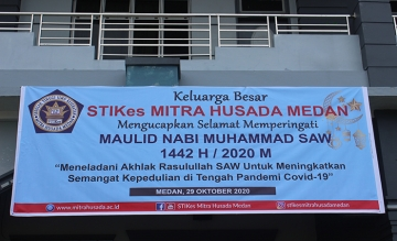 STIKes Mitra Husada Medan Memperingati Maulid Nabi 1442 H / 2020 M
