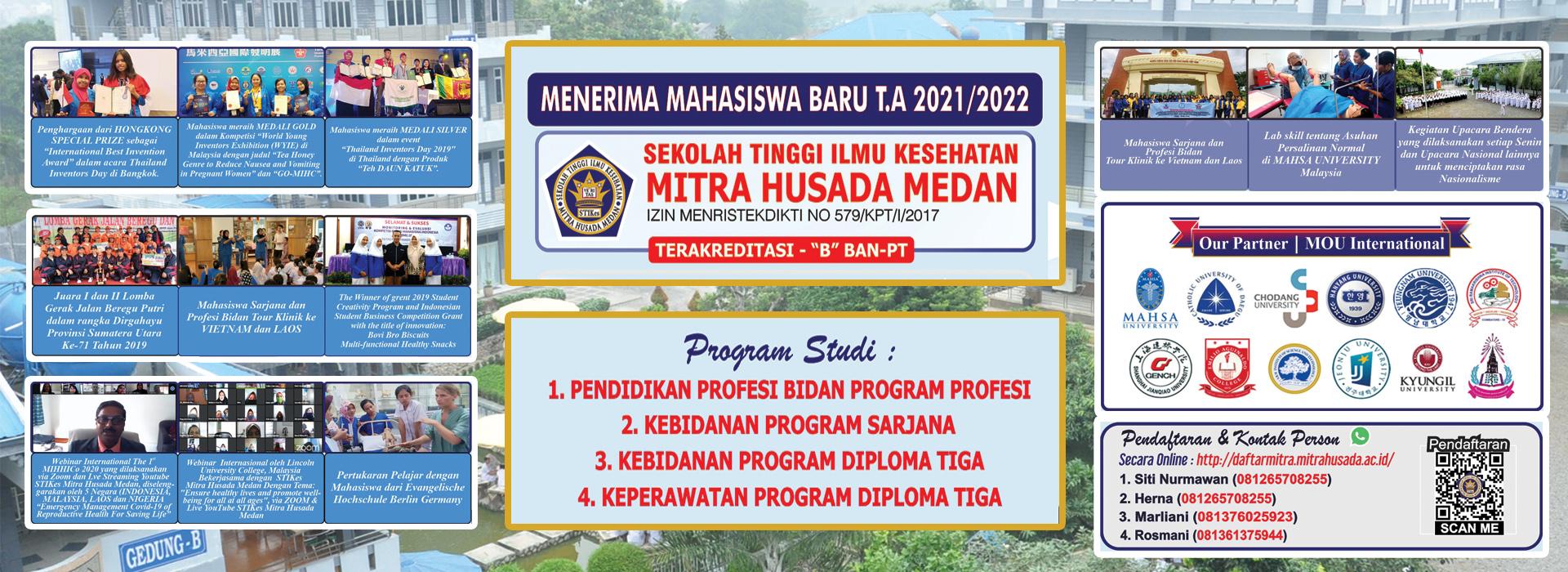 Penerimaan Mahasiswa Baru T.A 2021/2022 STIKes Mitra Husada Medan